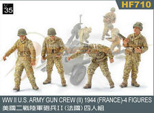 Hobby Fan 1:35 Scale WWII US Army Gun Crew (II) 1944 France 4 Figures HF-710
