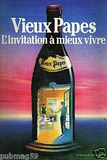 Publicité advertising 1986 Le Vin Vieux Papes