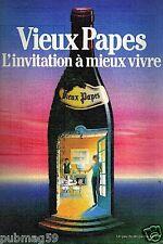 Publicité advertising 1986 Le Vin Vieux Papes