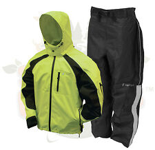 2XL Hi Viz Green/Black Frogg Toggs Kikker II Motorcycle Reflective Rain Suit 2XL