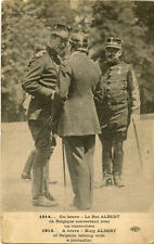 MILITARY : A Brave-King Albert of belgium talking with a journalist -DALEY