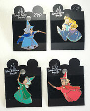 Walt Disney World 2000 Sleeping Beauty Fauna Flora Merryweather 4 PIN SET