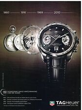 Publicité Advertising 2010 La Montre Tag Heuer Grand Carrera calibre 17 RS