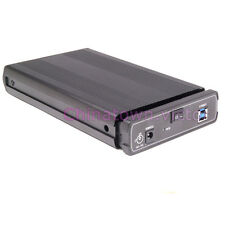 "External 3.5"" SATA Hard Drive HDD to USB 3.0 Enclosure Case w/3A Power Tool Free"