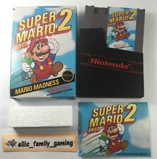 Super Mario Bros 2 Nintendo NES Complete CIB Cleaned - Works Great - Ships Fast