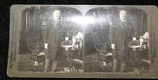 STEREOVIEW PRESIDENT ROOSEVELT IN THE CABINET ROOM WHITE HOUSE H C WHITE 1902