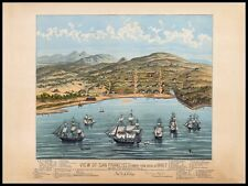 San Francisco 4 Reproduction Old Antique Colour Color Panoramic Maps Pictures