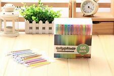 Assorted Set Of 60 Gel Pens Quality Ink Colours Neon Pastel Metalic Glitter Pen
