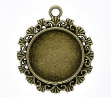 10 Bronze Plated Frame Cameo Settings 34x30mm