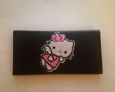 Hello Kitty Black Leather Checkbook Cover