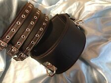 "Handmade 4"" leather Padded Thigh cuffs Any size /colour Bondage  fetish"