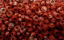 *NEW* Lego Bulk 1x1 Stud Dark Red Caps Plates Fine Detail Bricks - 30 pcs