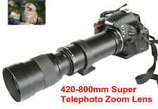 420mm-800mm Super Telephoto Lens Manual Zoom + T2 Mount for Pentax K3 K5 K7 K20D