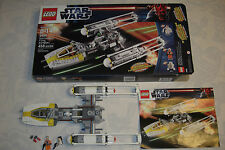 Lego Set 9495 Star Wars Gold Leader s Y-wing Starfighter with Box Instructions