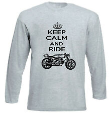 AERMACCHI ALA D`ORO KEEP CALM P - GREY LONG SLEEVED TSHIRT- ALL SIZES IN STOCK