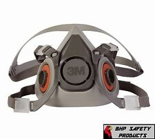 3M 6200 HALF MASK RESPIRATOR SIZE MEDIUM