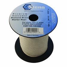 100' Diamond Braid Starter Pull Rope Cord #4-1/2 Chain Saw Lawn Mower
