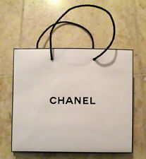 Authentic White Paper Chanel Shopping Bag