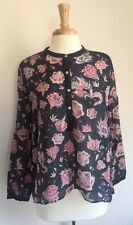 Isabel Marant Etoile SZ 42/US10 Black Floral HECTOR Cotton & Silk Tunic Top