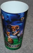 ONE ST. LOUIS RAMS NFL FOOTBALL SPORTS 3-D CUPS