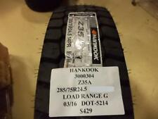 HANKOOK Z35A 285 75 24.5 LRG BRAND NEW TIRE 3000304