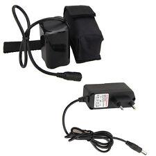 Universale 16000mAh 18650 8.4V Batteria ricaricabile + caricatore per bici Luce