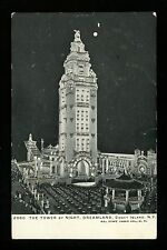 Amusement Park postcard Coney Island, New York NY Dreamland Tower Night View