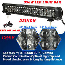 """23Inch 336W CREE Led Work Flood Spot Light Bar Offroad 4WD Driving Truck 22/20"""""""
