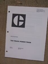1987 Caterpillar 789 Off Highway Truck Power Train Specifications  Manual  T