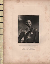 1844 DATED ANTIQUE PRINT ~ EDWARD DUKE OF KENT & STRATHEARN