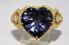 $196,000 24.01Ct AGTA Cert. No Heat Natural Color-Change Sapphire & Diamond Ring