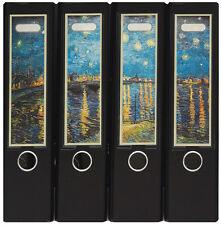 Design Ordner-Rückenschilder zum Einstecken breit - Motiv Van Gogh - IC-018