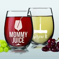 Funny Engraved Wine Glasses - Wine Glass Gifts For Mom, Women, Her, Birthday