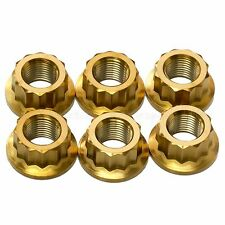 6x Gold Titanium Rear Sprocket Nuts Ducati Panigale 1098, 1198, 1199, 1299 S R