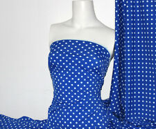 Royal /white Polka-dot Lycra/Spandex 4 way stretch Matt Finish Fabric