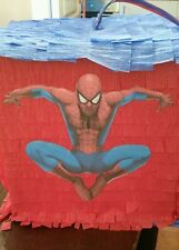 Spider Man Pinata birthday with sweets and stick party Can be personalised