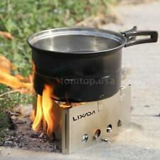 Stainless Steel  Lightweight Hunting Camping  Wood Stove Backpacking Burner Q4K1