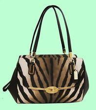 COACH 26634 MADISON Madeline Zebra E/W Satchel SM Bag Msrp $278 *FREE SHIPPING*