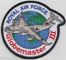 Boeing C-17 Globemaster III Royal Air Force RAF Embroidered Crest Badge Patch *