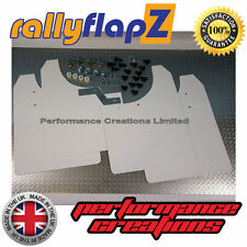 Rally Mud Flaps to Fit ASTRA VXR 2005 onwards Mudflaps x 4 WHITE