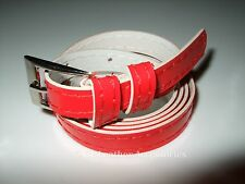 Ladies Girls Womens Shiny Skinny Thin Faux Leather Waist Belt 18 Colors