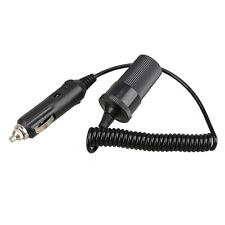 Portable 12V Car Cigarette Lighter Extension Cable Socket Cord 4ft LS4G Black