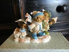 """SIGNED 2007 Cherished Teddies """"With Winter Upon Us, Love Keeps Us Warm"""" #4008960"""