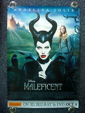 MALEFICENT Original 2010s DVD BluRay Release Poster Angelina Jolie, Elle Fanning