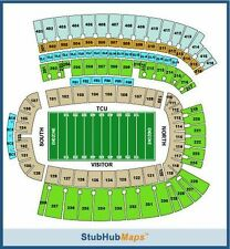 2 Lower level aisle tickets TCU Horned Frogs vs Kansas State Wildcats Sect 118