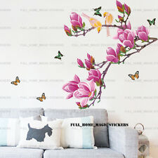 Luxury Magnolia Tree Birds Wall Stickers Mural Art Decal Paper Home Decoration