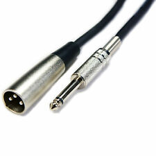 "5m 6.35mm ¼"" Mono Jack Plug to XLR Male Cable - 3 Pin Audio Microphone Amp Lead"