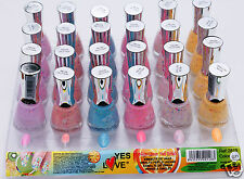 Nagellack Neon-glitter Lot von 6 neuen Yes Love Nagellack NEW NAIL Polish G11