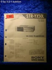 Sony Service Manual STR YX50L Receiver (#0052)