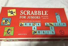 Vintage Scrabble for Juniors New Words Edition Two Reversible Board 1964 Complet